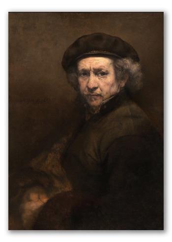 Autorretrato de Rembrandt pintado en 1659