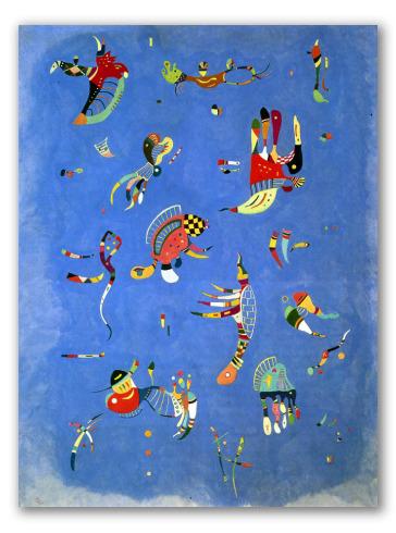 """Pintura """"Cielo azul"""""""