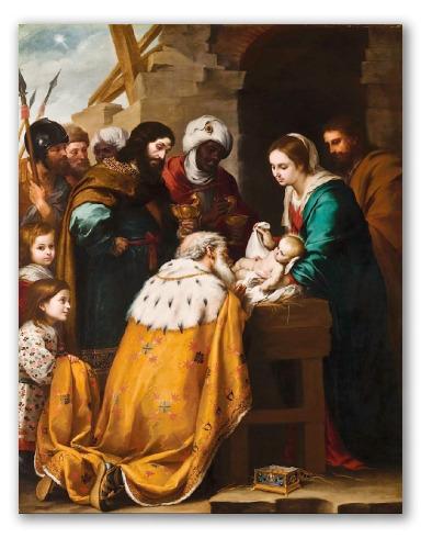 """Cuadro """"Adoración de los Reyes Magos"""""""