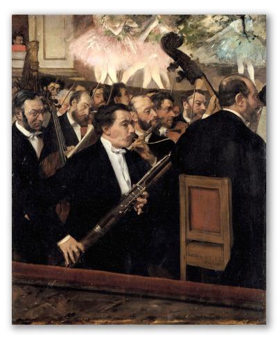 """Obra """"La orquesta en la ópera"""""""