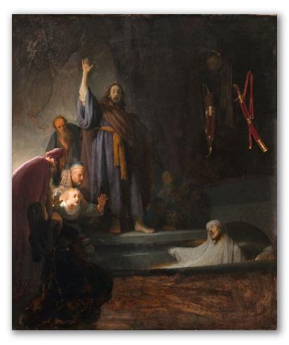 """Obra """"La resurrección de Lázaro"""""""