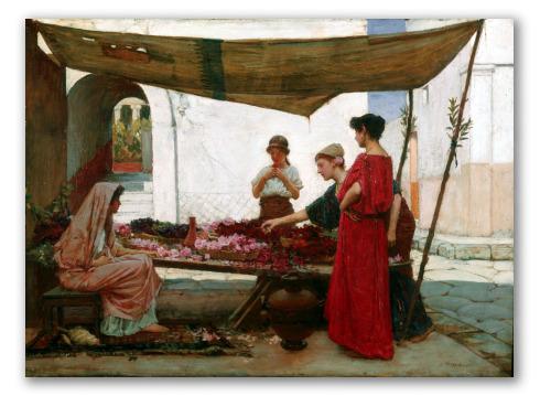 Un Mercado de Flores en Grecia