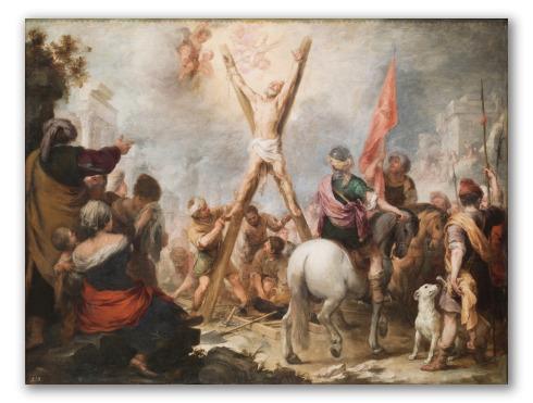 """Cuadro """"El martirio de San Andrés"""""""