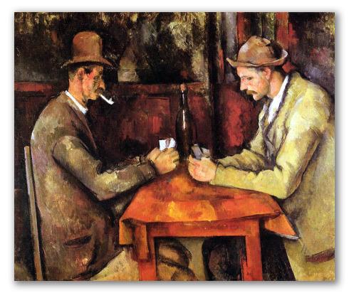 """Cuadros """"Los jugadores de cartas"""""""