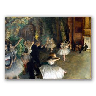 Ensayo de ballet en el escenario