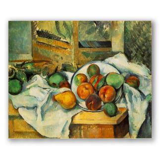 Mesa, Mantel y Fruta