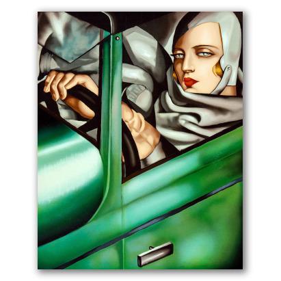 Autorretrato en el Bugatti verde
